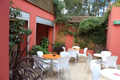 Beer Garden at the Camelia Grove Hotel