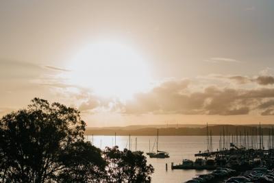 Spectacular sunset on Lake Macquarie