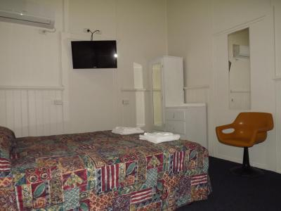 Newly refurbished rooms, air con, flat screen TV, QS beds, clean shared amenities and meal packages