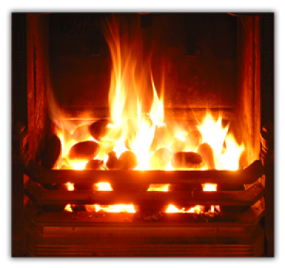 Open Fires and Outdoor Fire keep our locals warm