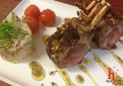 RedEarth Restaurant Crusted Lamb Rack