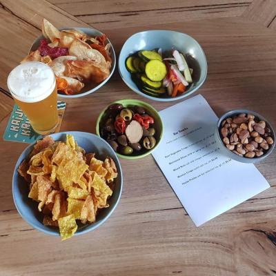 Our bar snack menu. All these are 100% vegan and made inhouse.
