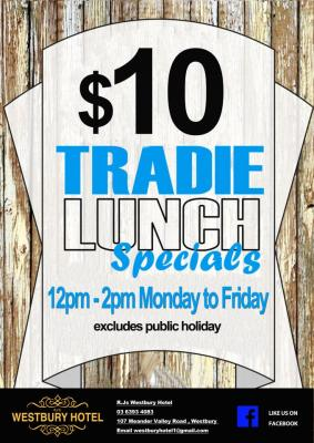 $10 Daily Lunch Special Tuesday - Sunday