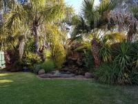 Lush beer garden