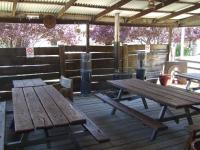 Outdoor eating area