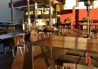 Isa Hotel outdoor Deck area