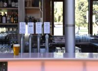 Sparkke at the Whitmore produces their limited edition specialty brews on site for service over the bar.