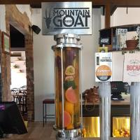 Mountain Goat Summer Ale infused with grapefruit, passionfruit and mint.